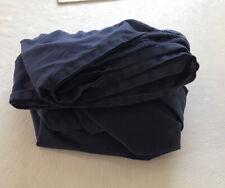 Ikea Tupplur Twin Fitted Sheet Navy Blue