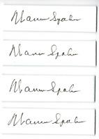Warren Spahn signed autographed cut autograph! RARE! Guaranteed Authentic!