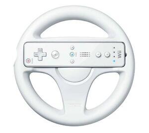 Mario Kart Racing Steering Wheel for Nintendo Wii Remote Controller - White
