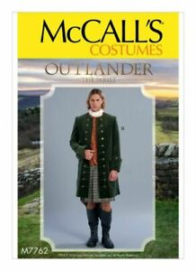 McCalls Outlander Men's Historical Costume Sewing Pattern M7762 1700s 18th C