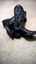 Ariat Sage Black Leather Boots Womens Size 7.5 European 40 - pristine!