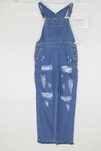 Salopette Liz Claiborne (Cod. S1253) Tg.M Jeans Wild Boar Donna Usato Vintage