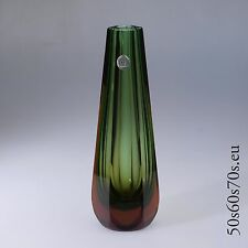 Glas Vase WMF Entwurf Erich Jachmann H=26 cm 60s Design #14
