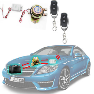 12V Auto Universal Wireless Remote Master Battery Disconnect Switch Kill On/Off