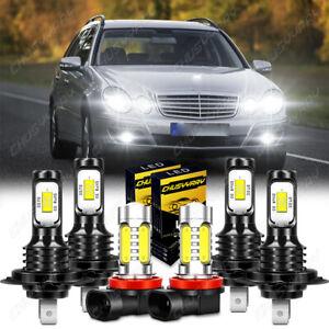 For Mercedes Benz GL450 2007-2012 E320 2008-2009- LED Headlight+Fog Light Bulbs