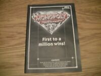 Monopoly Millionaire Board Game Hasbro Replacement Parts/Pieces-instruction book