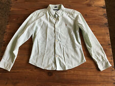 Used Lady Shirt RALPH LAUREN Camisa Mujer - Size 12 - Rayas verdes Green stripes