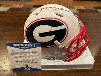 Mecole Hardman Autographed Georgia Bulldogs Riddell AMP Mini Helmet Beckett