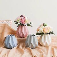 Pastel Tischvase Vase 14 cm  Blumentopf Origami  Designvase Weiß Rosa Blau  Matt
