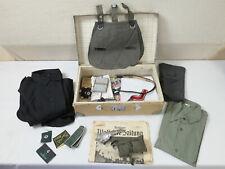 Wehrmacht Heimkehrer Koffer Vintage mit Inhalt Hemden Papiere persönliches