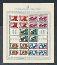 Serbia German Occupation 1943  Postal Transport sheetlet VF NH