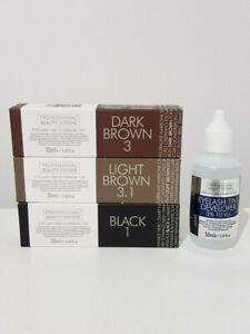 Professional Beauty Systems Eyelash & Eyebrow Tint Developer Light Brown Black