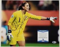 Hope Solo signed 11x14 Photo Autograph Team USA ~ Beckett BAS COA