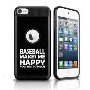 For Apple iPod Touch 5th 6th Shockproof Hard Case Cover Baseball Makes Me Happy