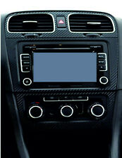 Carbon Fibre effect centre + side air vents to fit VW Golf Mk6 Jetta