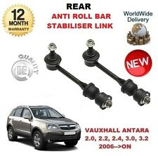 FOR VAUXHALL ANTARA 2006-->ON 2x REAR ANTI ROLL BAR STABILISER LINK WITH RUBBERS