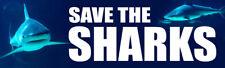 SAVE THE SHARKS Beautiful Shark Photo Sticker