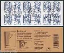 Carnet 852-C 1 Europe 20g bleu Marianne et la jeunesse de 2013 oblitéré 1er jour