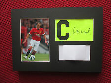 MANCHESTER UNITED PHIL NEVILLE SIGNED A4 MOUNTED ARMBAND & PHOTO DISPLAY - COA