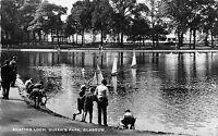 BR70576 boathin loch queen s park glasgow real photo  scotland