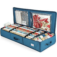 Christmas Wrapping Paper & Holiday Accessories Storage Organizer Box Heavy Duty