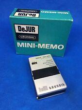 DeJUR Grundig Mini-Memo Micro Cassette Recorder Working!