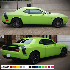 Decal Vinyl Rear Trunk Stripes for Dodge Challenger SRT RT Hood Side 2008-2017