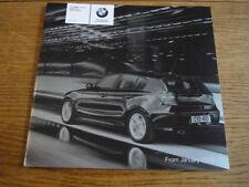 BMW 1 Serie ES tratteggio listino prezzi di vendita opuscolo gennaio 2009