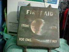 Vintage Authentic WW2 24 Unit Kit First Aid Medic Box w Contents