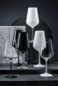 Bohemia Weingläser, Rotweingläser Black & White, 450 ml, 2er Set