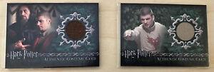 Lot (2) Harry Potter Goblet Of Fire Viktor Krum Costume Cards 21/700 181/400