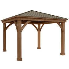 Yardistry 12' x 12' Cedar Gazebo With Aluminum Roof
