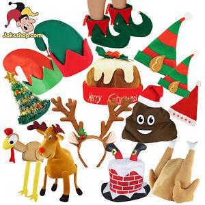 Christmas Party Hats Novelty Selection Funny Xmas Santa Elf Reindeer Fancy Dress