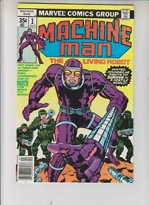 """Machine Man 1 NM- (9.2) 4/78 Jack Kirby cover & art! """"The Robot With A Soul!"""""""