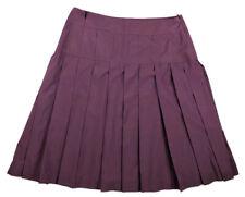 """Cacharel Pleated Skirt Mauve Burgundy Plum Made in Poland, 15"""" Waist"""