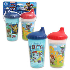 2pk Spill Proof PAW PATROL Sippy Cups Toddler Kids Boys BPA FREE RED BLUE CUDLIE