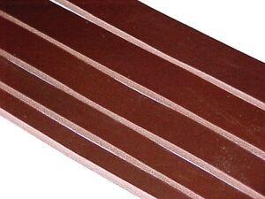 "CLEARANCE SALE: Brown Latigo Leather (8-10oz Belt Weight 1/8""-9/64"") Strip Strap"