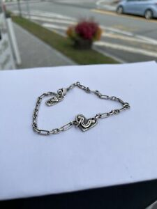"""Island Cowgirl Lucky Heart Silver Chain Link Anklet 10"""" Sterling Silver 925"""