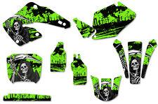Honda CR125 CR250 Graphics Kit Dirt Bike Decal Sticker Wrap 2000-2001 REAP GREEN