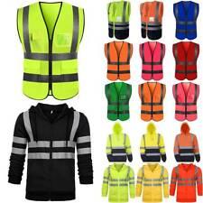 Hi Vis High Visibility Safety Work Vest Waistcoat Reflective Hoodies Jacket Coat