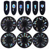 Nail Art Rhinestones Round Heart Marquise Flat Bottom Resin 3D Decoration Wheel