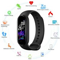 M5 Color Touch Screen Heart Rate Pressure Sleep Monitor Smart Wristband Bracelet