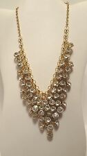 Vintage Necklace Bib Rhinestone w earrings