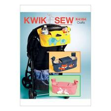 KWIK SEW SEWING PATTERN MISSES' STROLLER ORGANIZER BAGS BABIES PUSHCHAIRS K4184