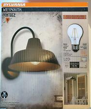 * SYLVANIA Lighting * Weymouth Sconce Light * Vintage Barn Light Fixture *