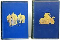 1895 edition THE JUNGLE BOOK SET Antique RARE Rudyard KIPLING Disney FIRST & 2nd