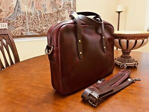 GUSTIN Horween Leather  Chromexcel # 8  Briefcase / Messenger Bag - US Made