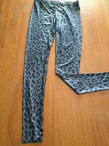 Mink Pink Silver Grey Leopared Leggings Size XS