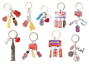 Famous London Icons Set of 9 Key Rings -UK London Souvenir
