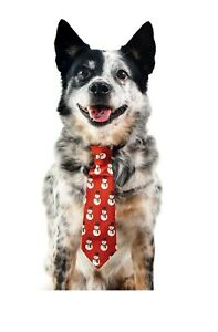 Snowman Holiday Necktie Red Sml/ Xsml For Dogs
